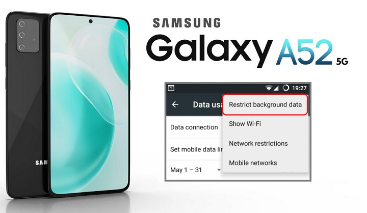 restrict background data on galaxy a52
